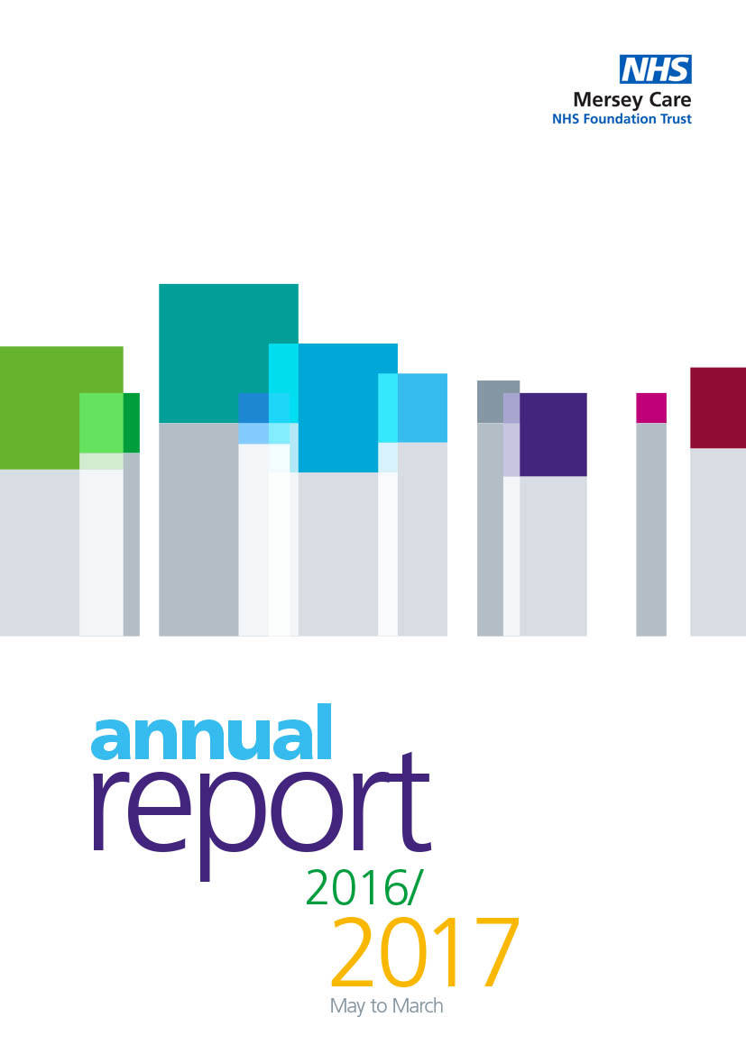 NHS annual report design